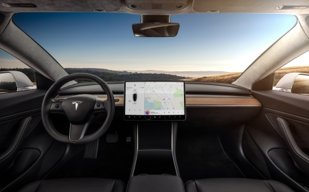 model 3 - interior dashboard - head on